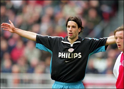 Ruud playing for PSV