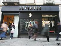 Negocio de Juventus en Turín.