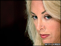 Valerie Plame Wilson at the press conference announcing her lawsuit
