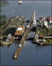 Aerial photo of the Panama Canal
