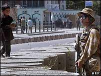 British soldier in Kabul