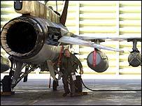 Israeli fighter pilot by jet