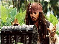 Johnny Depp en su papel de capitán Jack Sparrow