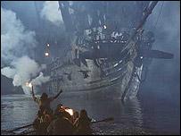 """Barco en la primera parte de """"Piratas del Caribe"""".  Foto: Disney"""