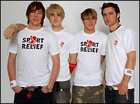 McFly kicked off the Sport Relief show with 'Don't stop me now'