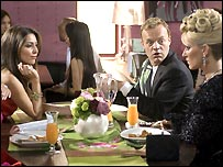 Graham Norton puts in a scene-stealing guest appearence in Footballers' Wives