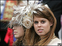 Princess Beatrice at annual Garter service last month