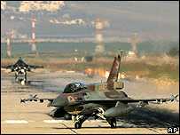 Israeli planes return from mission over Lebanon on 12 July