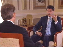 Jon Sopel interviewed the Prime Minister