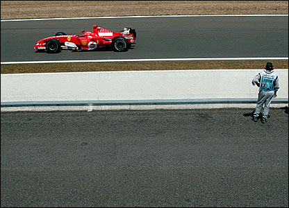 Michael Schumacher dominates the French Grand Prix