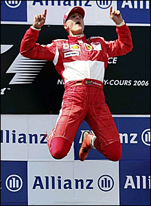 Michael Schumacher wins in France