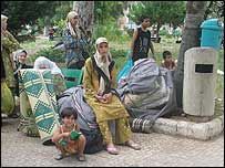 Abu Mohammed's family in a park, Beirut
