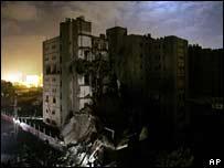 Развалины министерства в Газе
