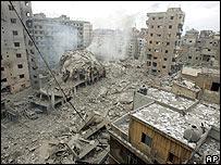 Destrucción en Beirut