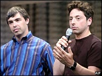 Google co-founders Larry Page and Sergey Brin