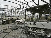 Последствия израильского авиаудара 17 июля