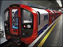 The new Victoria Line train
