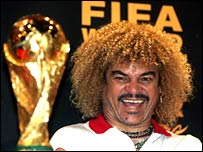 Former Colombia captain Carlos Valderrama eyes the World Cup