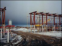 Kharyaga gas facility in Russia, developed by Norsk Hydro
