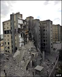 Remains of foreign ministry building