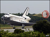 Aterrizaje del transbordador Discovery