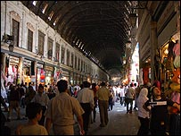 Hamadiyeh market in old Damascus