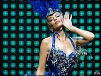 Kylie Minogue on her Showgirl tour in 2005