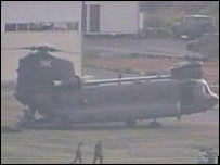 Chinook being loaded for evacuation
