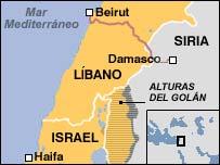 Mapa donde figura la ciudad de Haifa al norte de Israel