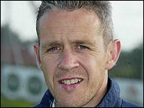 Dungannon Swifts manager Harry Fay