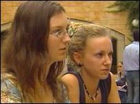 Angela Quartermaine (right)