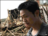 Destruction in Fujian province