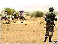 African Union soldier in Darfur