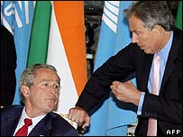 President Bush and UK Prime Minister Tony Blair