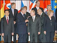 The G8 leaders gather for a photo call