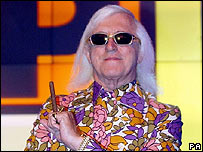Sir Jimmy Savile on the Top of the Pops set