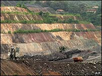 Open cast gold mine in Ghana