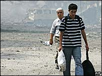 Beirut residents move out amid the rubble