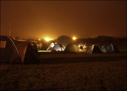 Paul Lismer took this shot of his group's tents during a Carmarthenshire sunset