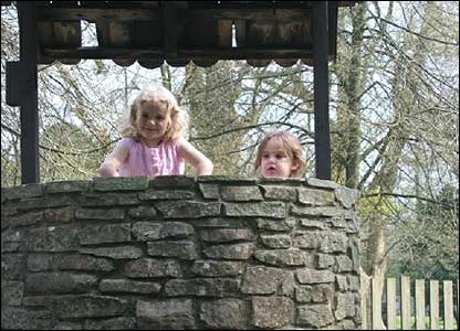 Sophie and Erin having fun in Fairytale Land in Margam Park by Lisa Pywell