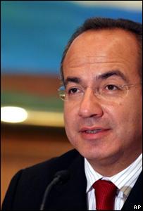 Candidato presidencial Felipe Calderón