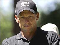 Lance Armstrong at a charity golf day recently