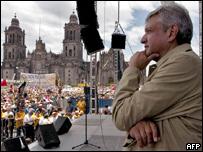 Candidato presidencial Andrés Manuel López Obrador