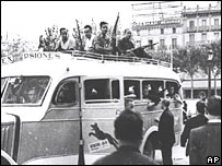 Soldiers from the civilian army fighting for the Republican government in Barcelona