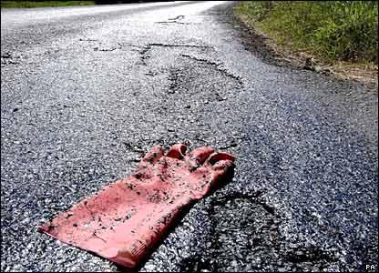 Melting road at Tadcaster near York