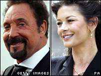 Tom Jones and Catherine Zeta Jones