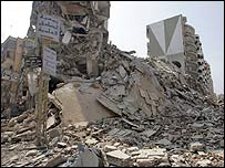 Bombed suburb of Beirut