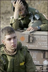 Soldados israelíes en el sur de Líbano