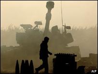 Soldado israelí en el sur de Líbano