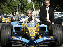 Damon Hill and Tony Blair